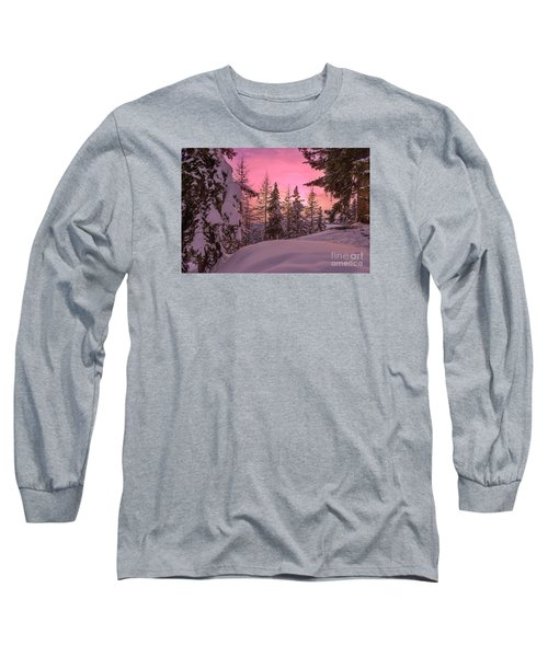 Lapland Sunset Long Sleeve T-Shirt by IPics Photography