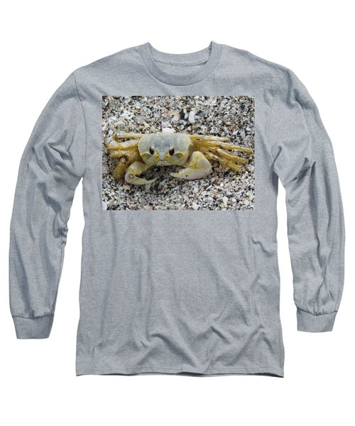 Long Sleeve T-Shirt featuring the photograph Ghost Crab by Cynthia Guinn