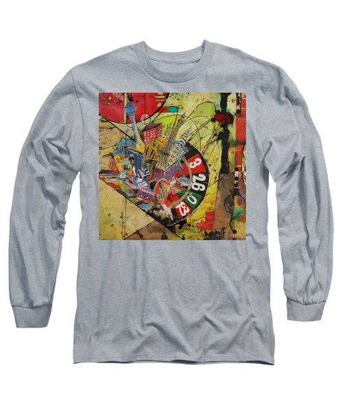 Las Vegas Collage Long Sleeve T-Shirt by Corporate Art Task Force