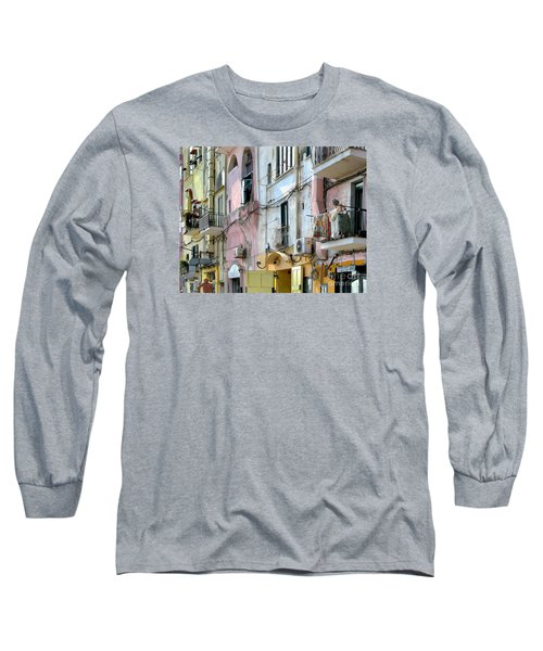 Laundry Day In Procida Long Sleeve T-Shirt by Jennie Breeze