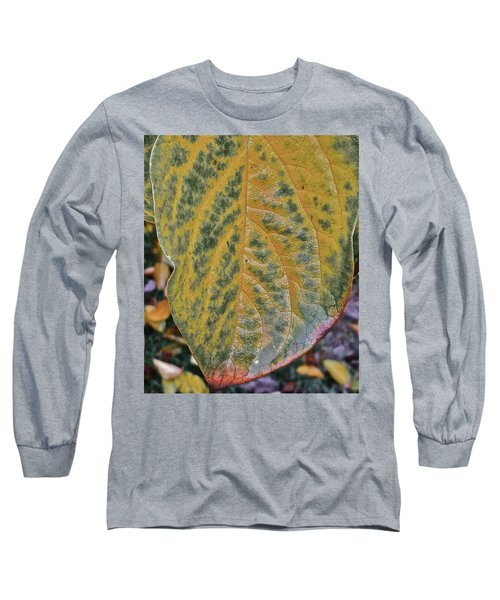 Long Sleeve T-Shirt featuring the photograph Leaf After Rain by Bill Owen
