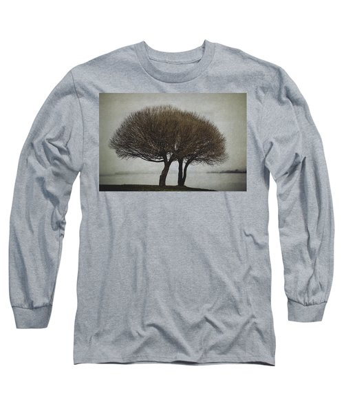 Long Sleeve T-Shirt featuring the photograph Leafless Couple by Ari Salmela