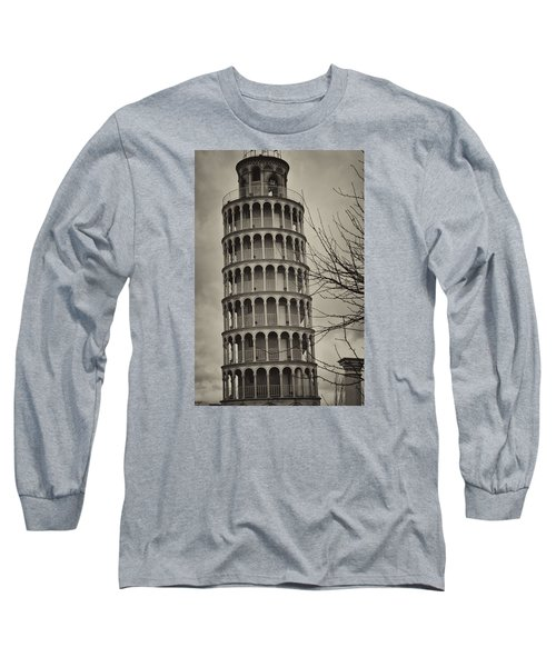 Long Sleeve T-Shirt featuring the photograph Leaning Tower by Miguel Winterpacht