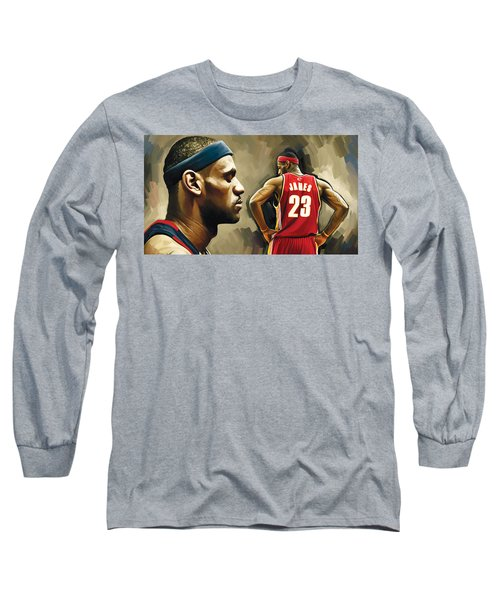 Lebron James Artwork 1 Long Sleeve T-Shirt
