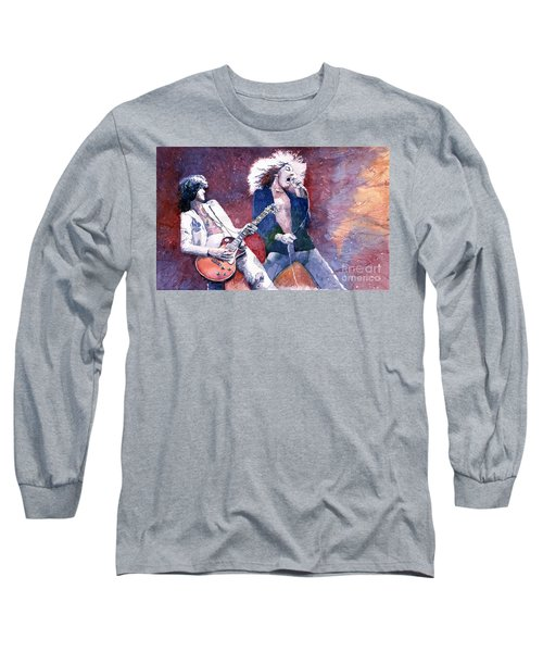 Led Zeppelin Jimmi Page And Robert Plant  Long Sleeve T-Shirt