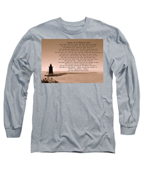 Legacy Of An Adopted Child Long Sleeve T-Shirt by Trish Tritz