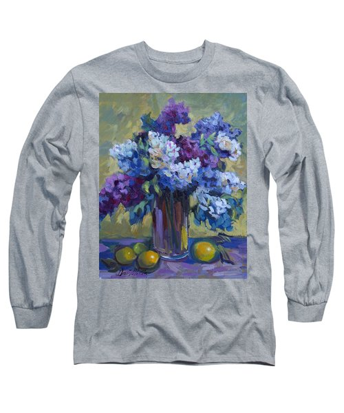 Lemons And Lilacs Long Sleeve T-Shirt by Diane McClary