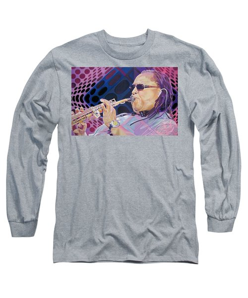 Leroi Moore Long Sleeve T-Shirt by Joshua Morton