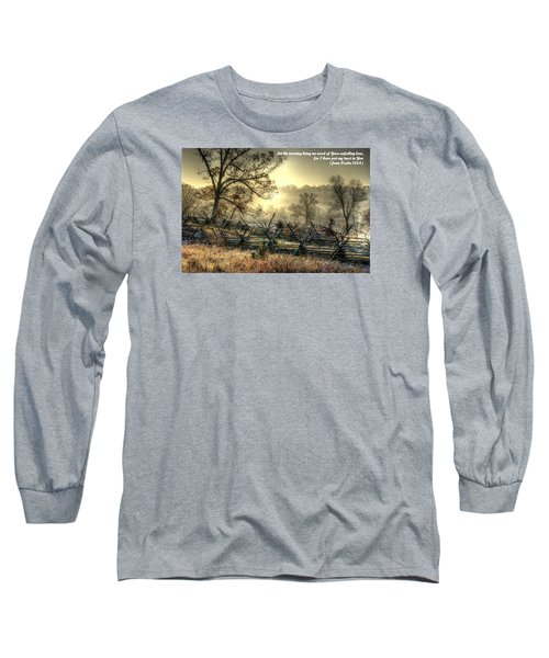 Let The Morning Bring Me Word Of Your Unfailing Love - Psalm 143.8 Long Sleeve T-Shirt by Michael Mazaika
