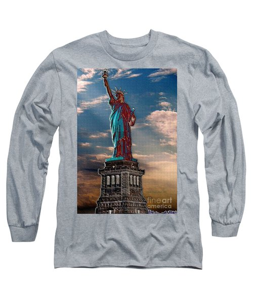 Long Sleeve T-Shirt featuring the photograph Liberty For All by Luther Fine Art