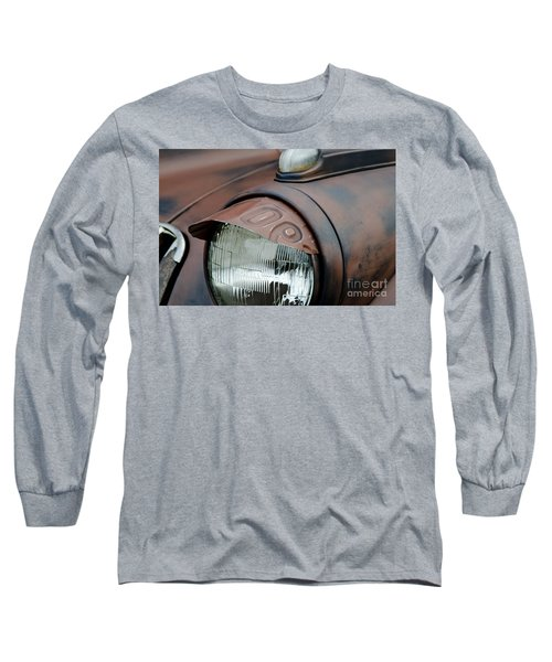 Long Sleeve T-Shirt featuring the photograph License Tag Eyebrow Headlight Cover  by Wilma  Birdwell
