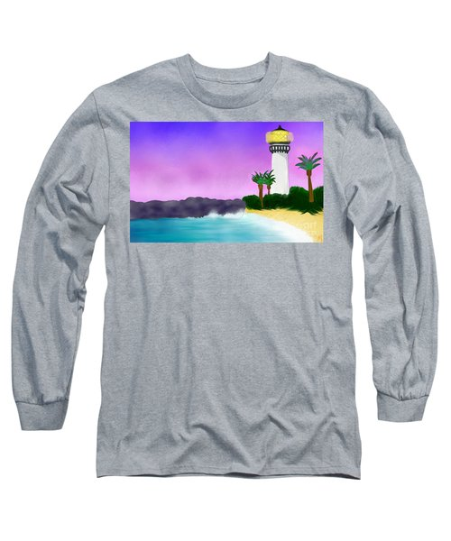 Lighthouse On Beach Long Sleeve T-Shirt