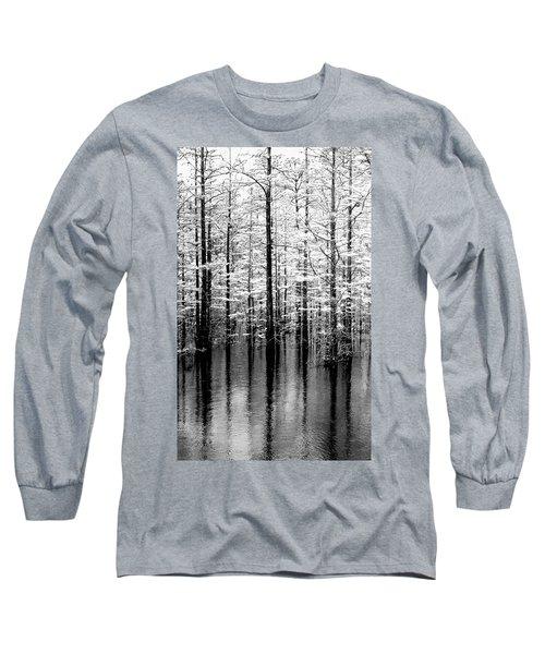Lightning On The Wetlands Long Sleeve T-Shirt by Faith Williams