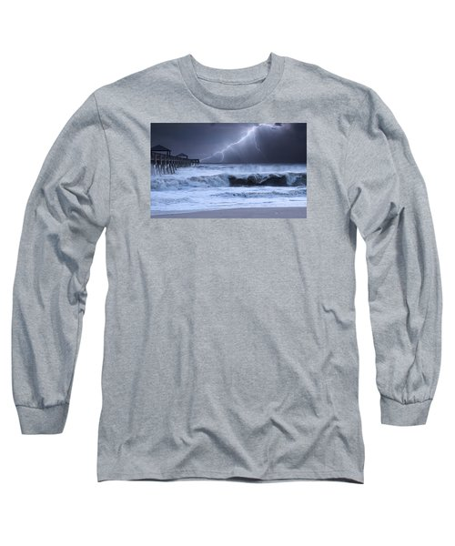 Lightning Strike Long Sleeve T-Shirt by Laura Fasulo