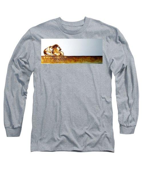 Lion And Lioness - Original Artwork Long Sleeve T-Shirt