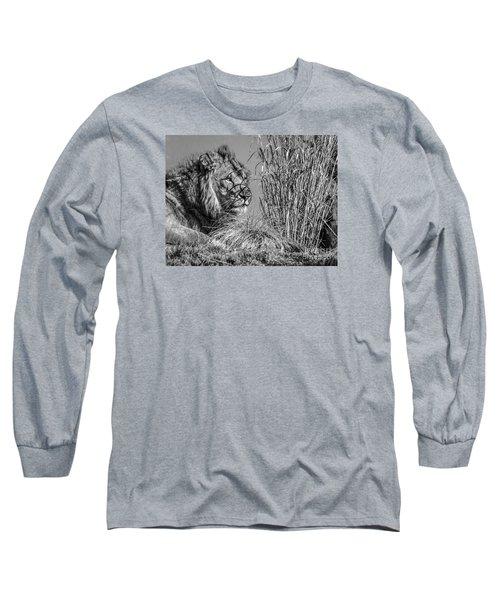 Watching Intently Long Sleeve T-Shirt