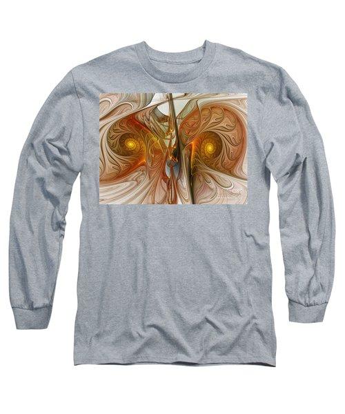 Liquid Crystal Spirals Long Sleeve T-Shirt
