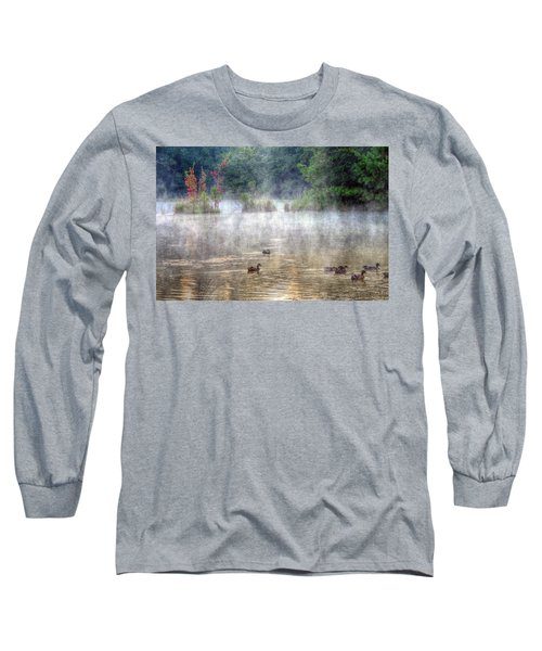 Long Sleeve T-Shirt featuring the photograph Little Bit Of Fall by Charlotte Schafer