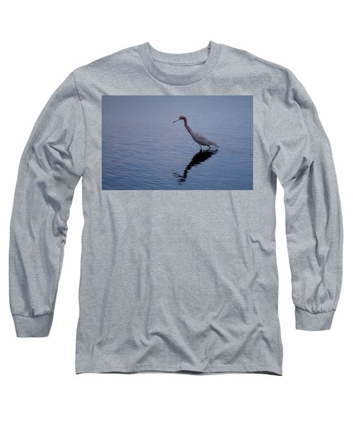 Long Sleeve T-Shirt featuring the photograph Little Blue Heron On The Hunt by John M Bailey
