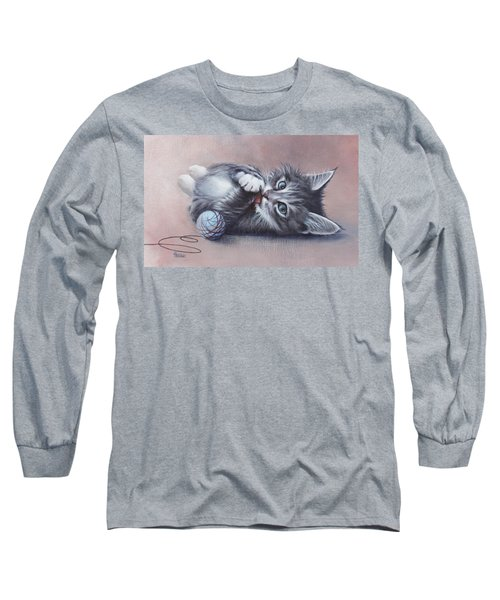 Long Sleeve T-Shirt featuring the painting Little Mischief by Cynthia House