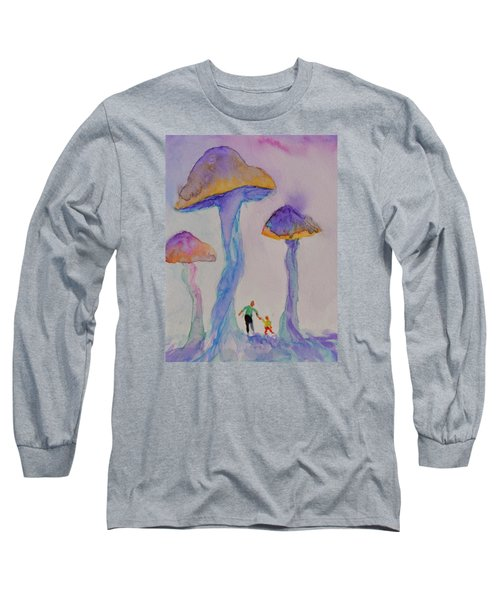 Long Sleeve T-Shirt featuring the painting Little People by Beverley Harper Tinsley