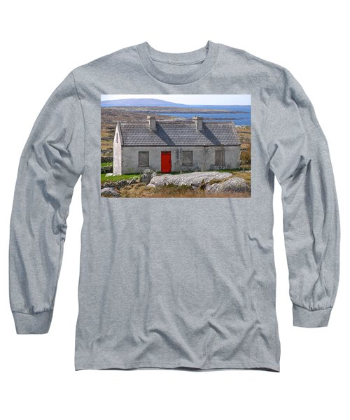 Long Sleeve T-Shirt featuring the photograph Little Red Door II by Suzanne Oesterling