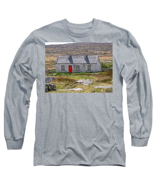 Long Sleeve T-Shirt featuring the photograph Little Red Door by Suzanne Oesterling