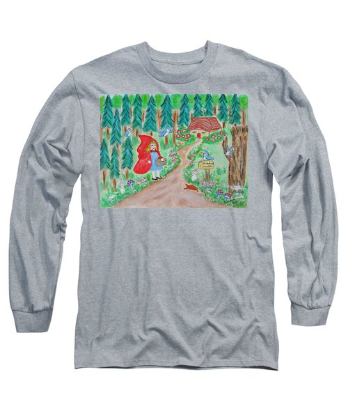 Little Red Riding Hood With Grandma's House On Mailbox Long Sleeve T-Shirt