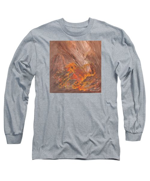 Living Earth-kneeling Buddha Long Sleeve T-Shirt by Susan  Dimitrakopoulos