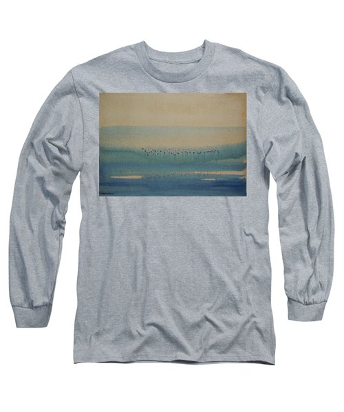 Long Sleeve T-Shirt featuring the painting Loch Of My Heart by Mini Arora