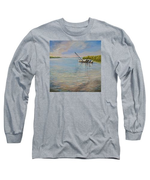 Long Sleeve T-Shirt featuring the painting Locked by AnnaJo Vahle
