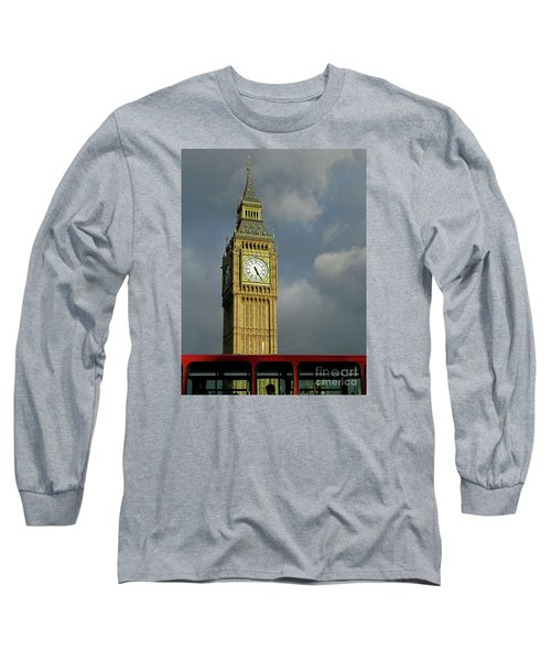 Long Sleeve T-Shirt featuring the photograph London Icons by Ann Horn
