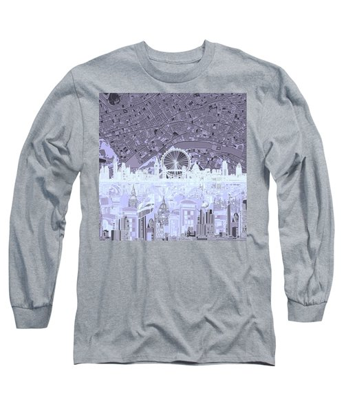 London Skyline Abstract 10 Long Sleeve T-Shirt
