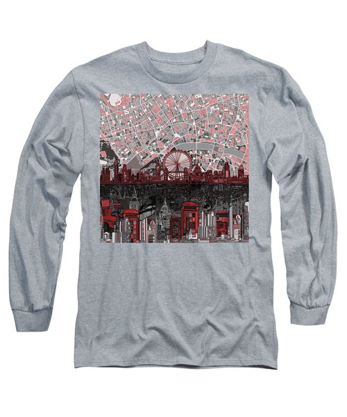 London Skyline Abstract 6 Long Sleeve T-Shirt
