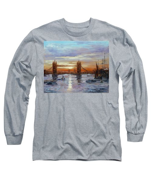 London Tower Bridge Long Sleeve T-Shirt by Irek Szelag