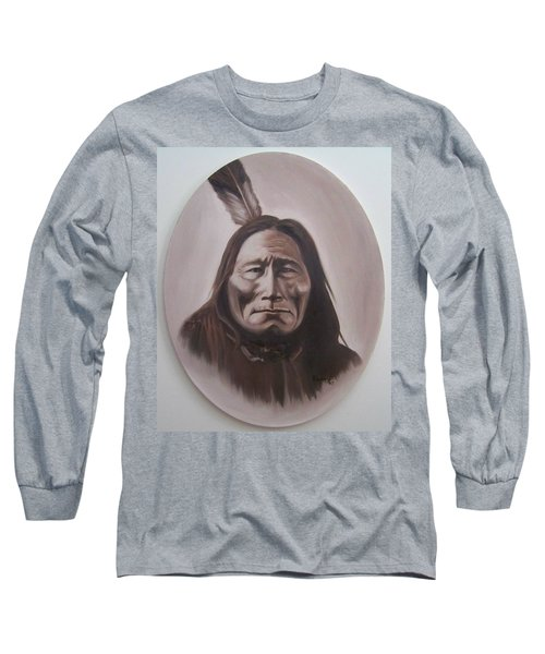 Long Sleeve T-Shirt featuring the painting Long Bear by Michael  TMAD Finney