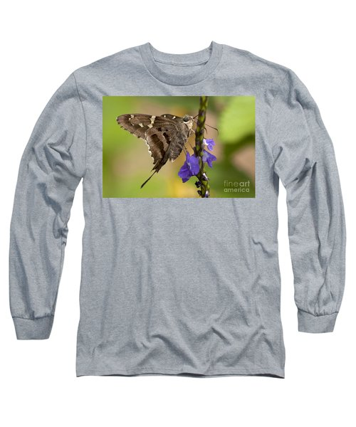 Long Sleeve T-Shirt featuring the photograph Long-tailed Skipper Photo by Meg Rousher