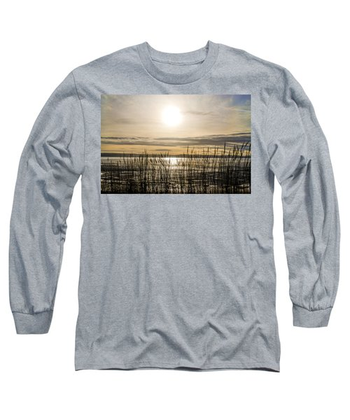 Looking At Wales Through The Grass Long Sleeve T-Shirt