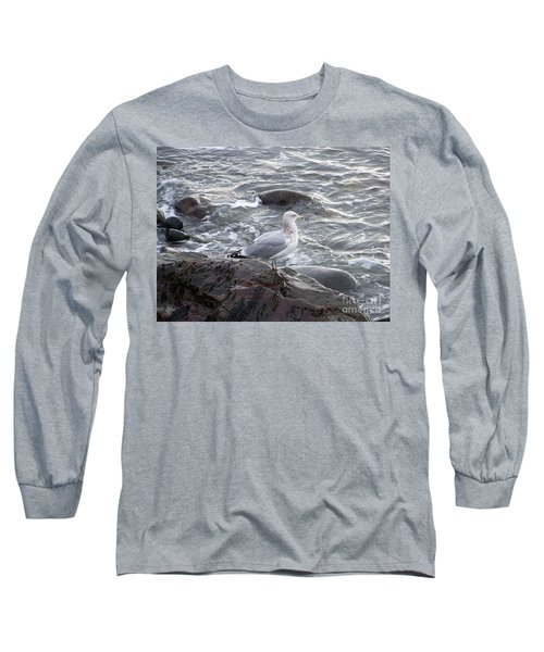 Long Sleeve T-Shirt featuring the photograph Looking Out To Sea by Eunice Miller