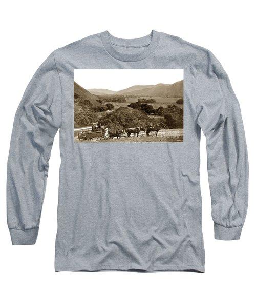 Looking Up The Carmel Valley California Circa 1880 Long Sleeve T-Shirt by California Views Mr Pat Hathaway Archives