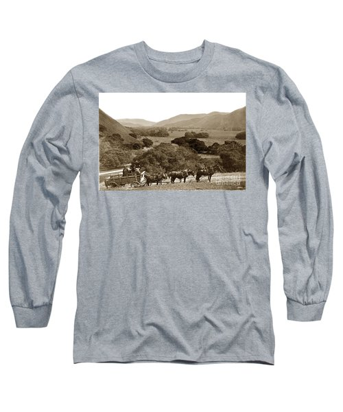 Looking Up The Carmel Valley California Circa 1880 Long Sleeve T-Shirt