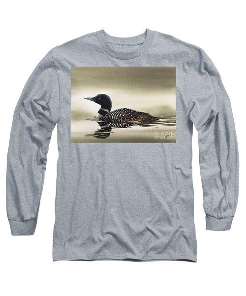 Loon In Still Waters Long Sleeve T-Shirt
