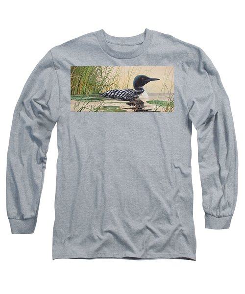 Loon's Tranquil Shore Long Sleeve T-Shirt