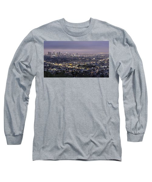 Los Angeles At Night From The Griffith Park Observatory Long Sleeve T-Shirt