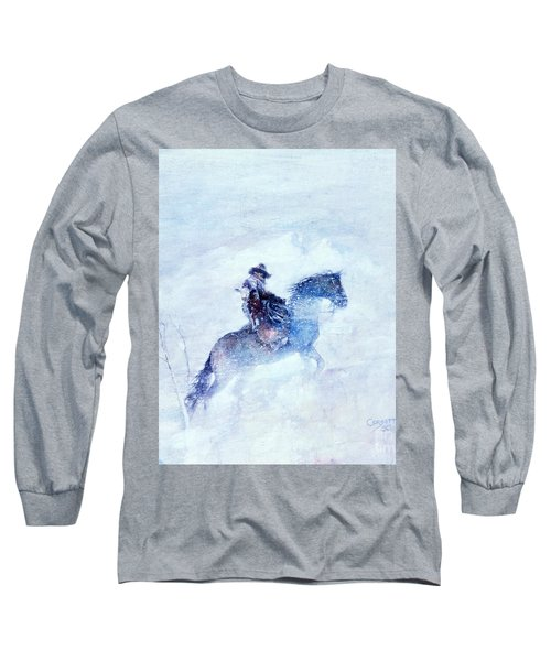 Long Sleeve T-Shirt featuring the painting Lost And Found by Rob Corsetti