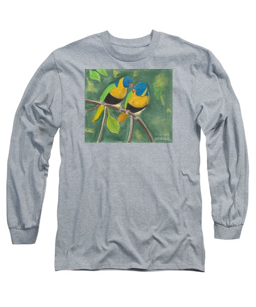 Love Birds Long Sleeve T-Shirt by David Jackson