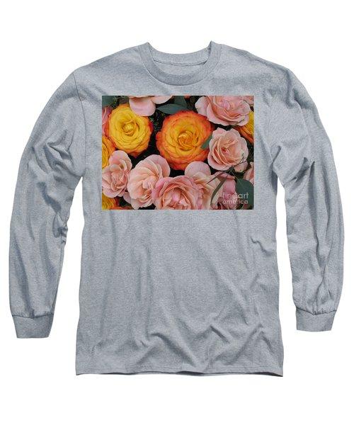 Love Bouquet Long Sleeve T-Shirt by HEVi FineArt