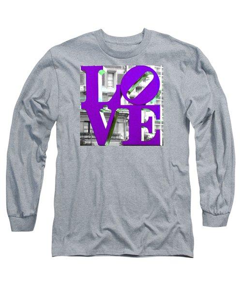 Love Philadelphia Purple Long Sleeve T-Shirt by Terry DeLuco