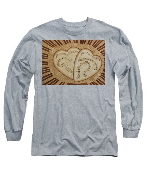 Long Sleeve T-Shirt featuring the painting Love Song Of Our Hearts by Georgeta Blanaru