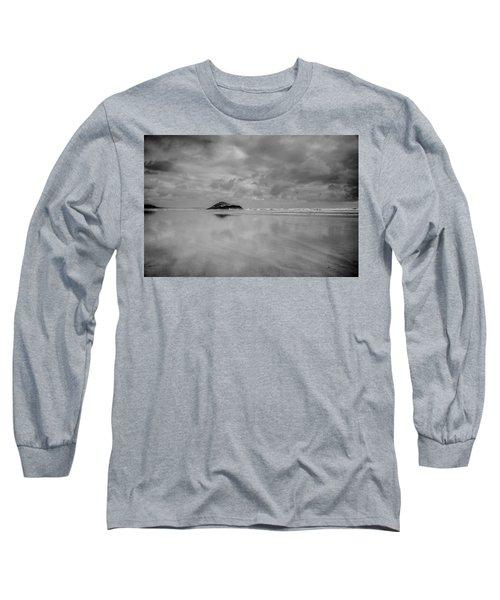 Love The Lovekin Rock At Long Beach Long Sleeve T-Shirt by Roxann Hurtubise